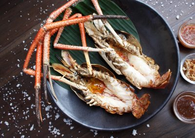 Grilled river prawn
